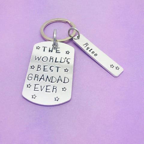 Worlds Best  Grandad ever Personalised Keyring