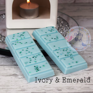 Ivory And Emerald Soy Wax Melt Snap Bar, Fabric Conditioner Scented Wax, Soy Wax Melts, Washing Scented Wax Melts, Fresh Scent Wax Melts