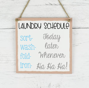 Laundry Room Sign, Laundry Room Plaque,Bathroom Family Quote Plaque, Rustic Funny Family Plaque, Home Decor Quote Sign, New Home Gift