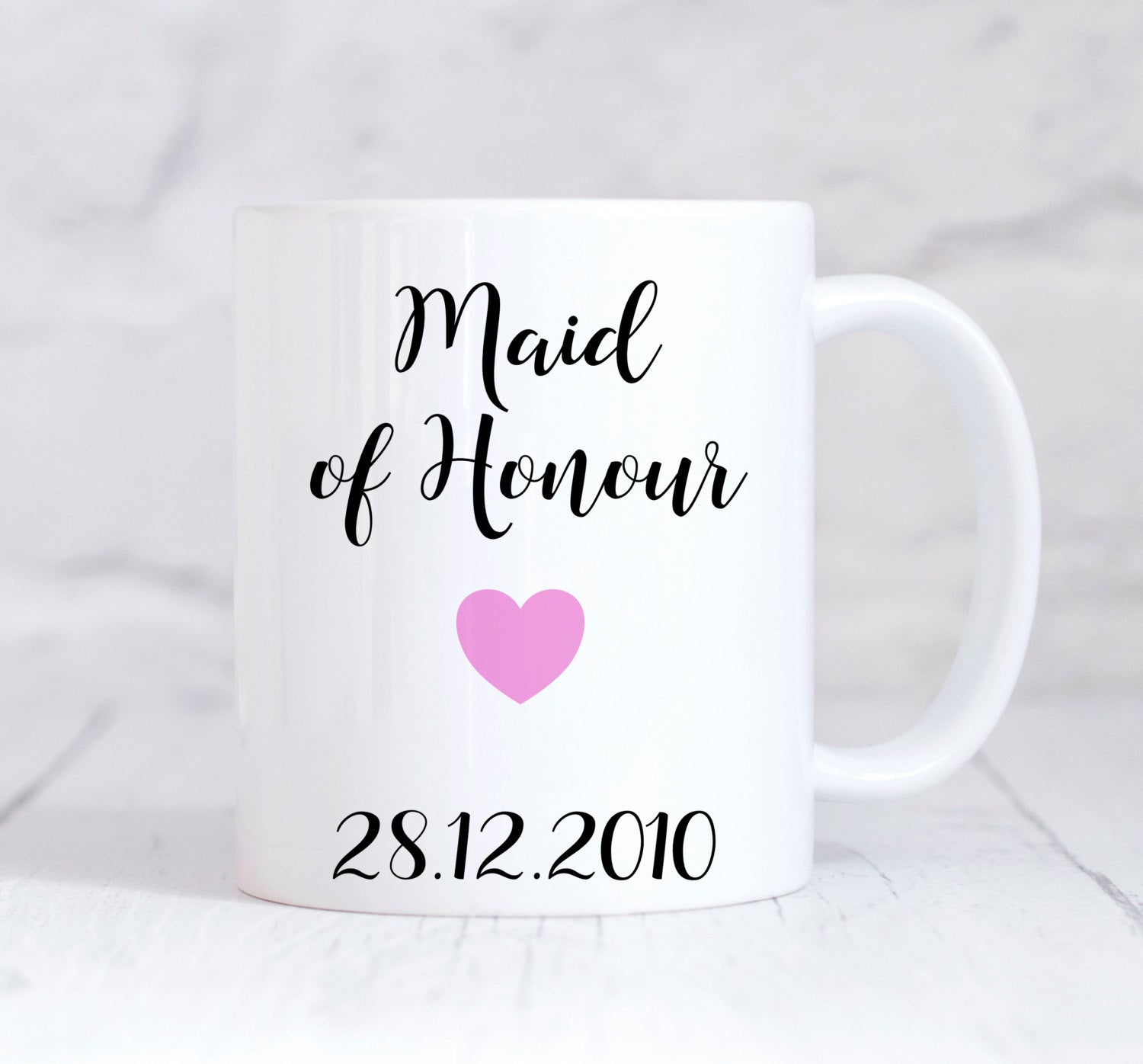 Maid Of Honour Mug, Maid Of Honour Gift, Wedding Thank You Gift, Personalised Wedding Gift, Personalised Mug, Coffee Mug, Tea Mug, Cup