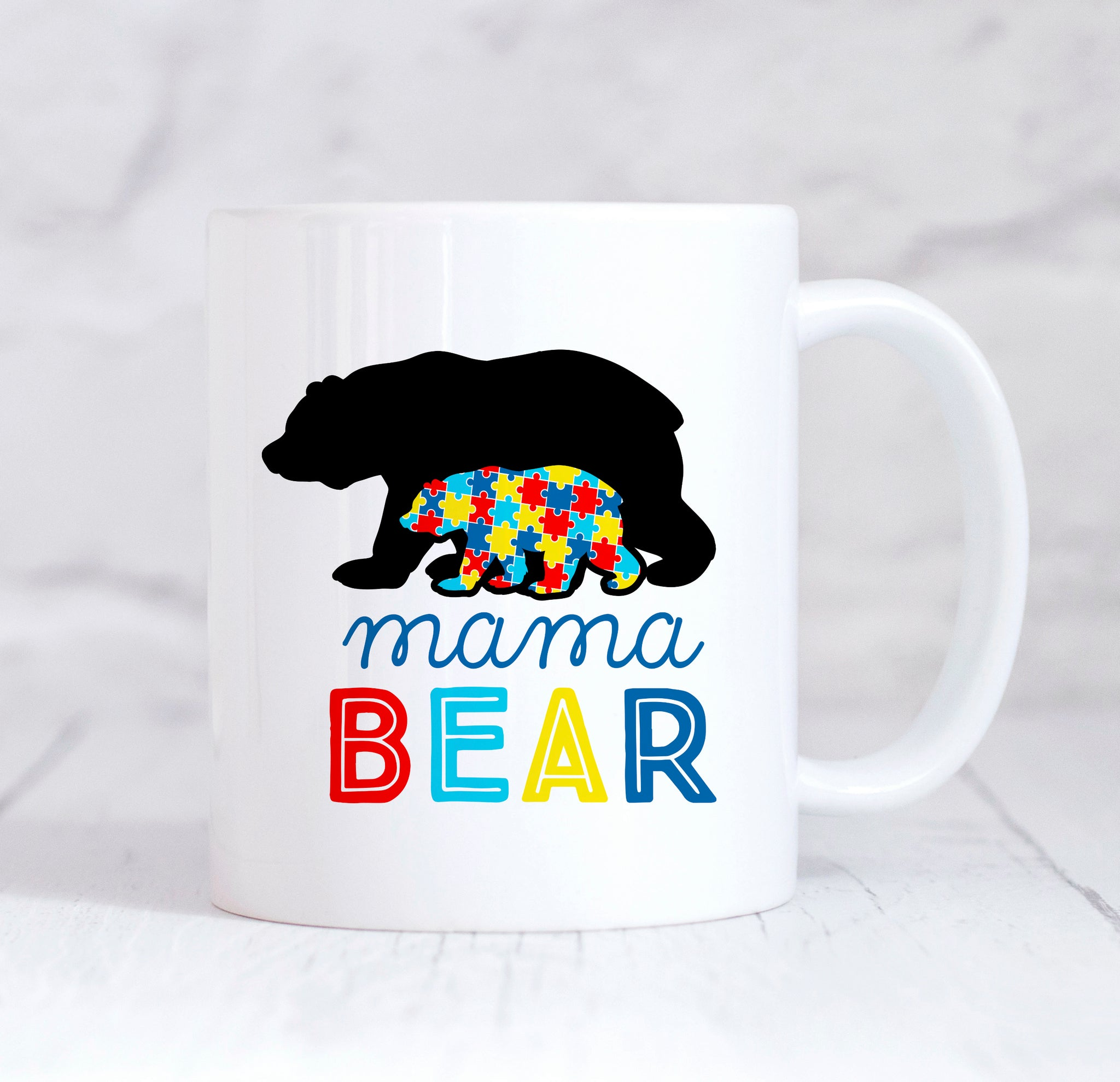 Mama Bear Autism Mug, Mama Bear Mug, Autism Awareness Coffee Mug, Gift For Mum, Mummy Bear Mug, Autism Mummy Mug, Coffee Mug For Mums