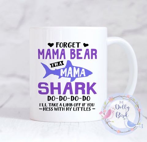 Mama Shark Mug, Mummy Shark Mug, Mama Shark Coffee Mug, Gift For Mum, Mommy Shark Mug, Mama Bear Mug, Coffee Mug For Mums, Mama Coffee Mug