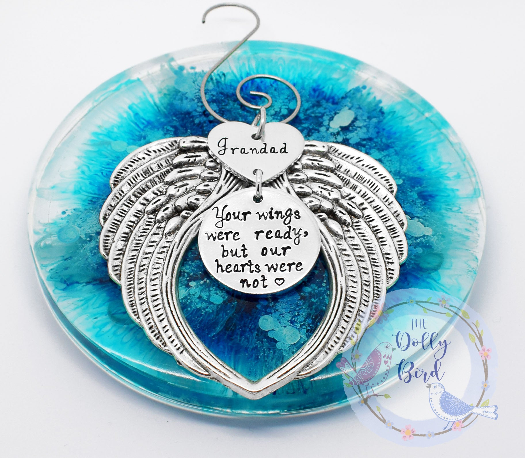 Your Wings Were Ready But Our Hearts Were Not Christmas Tree Ornament, Personalised Tree Decoration Memorial Angel Wings Tree Decoration