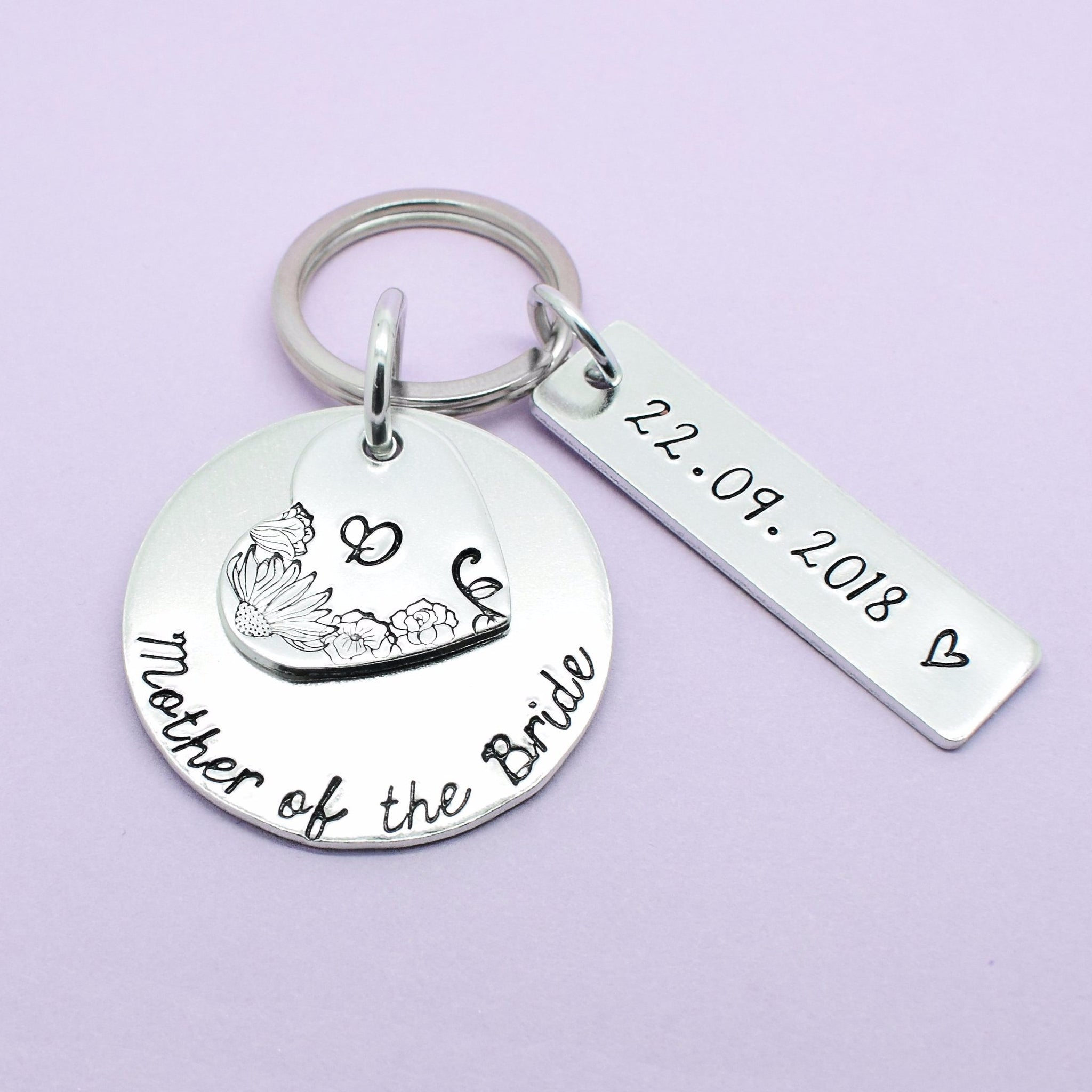 Mother Of The Bride Personalised Keyring, Mother Of The Bride Keychain, Mother Of The Bride Gift, Wedding Party Gift, Thank You Gift For Mum