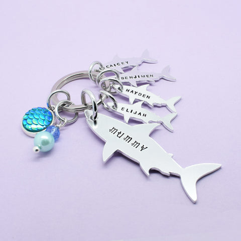 Mummy Shark Keyring, Mommy Shark Keychain, Mummy Shark Gift, Mummy Keyring, This Mummy Belongs to, Mum Stocking Filler, Mummy Christmas Gift