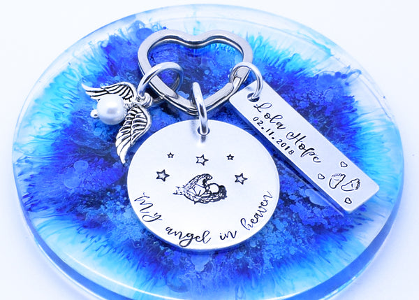 My Angel In Heaven personalised angel baby keyring, Memorial Keyring, Memorial Gift, My Angel In Heaven Personalised Keyring Keychain, Angel Baby Gift, Angel Baby Keyring, Infant Loss Keyring