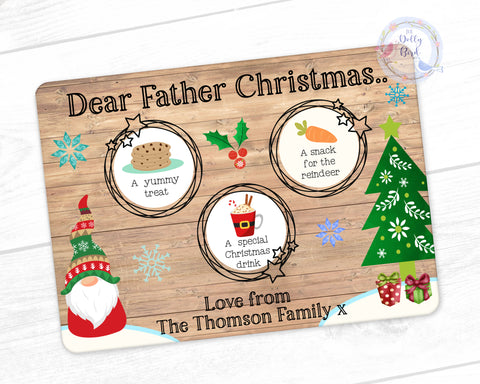 Personalised Treats For Father Christmas Board, Nordic Christmas, Personalised Christmas Eve Treat Board, Personalised Treats For Santa Board, Father Christmas Treats Board, Christmas Eve Plate, Rudolph