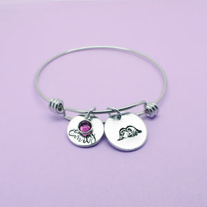 Angel Baby bracelet, Infant Loss Jewellery, Infant Loss Jewelry, Personalised Angel Bangle, Memorial Jewelry, Born Sleeping, Miscarriage