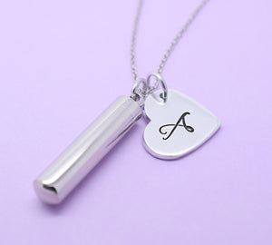Personalised Urn ashes memorial cremation necklace pendant.