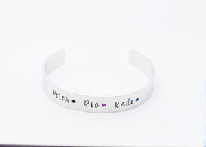 Personalised Name Birthstone Bracelet