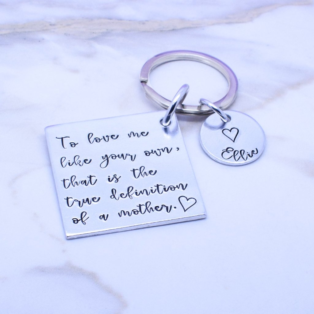Step Mum Gift, Step Mother Gift, Step Mum Keyring, This mum belongs to keyring, Personalised Gift For Step Mum Mom, Mothers Day Gift, Thank You Mum, Mommy Mom Keychain
