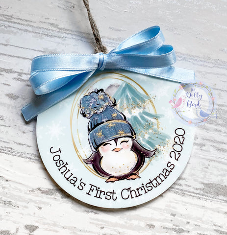 Baby Boys First Christmas Tree Decoration, Babys 1st Christmas 2020, Baby Boy Tree Decoration, Baby Boy Tree Ornament, Baby Christmas Gift