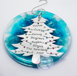 Family Christmas Personalised Tree Decoration, Personalised Family Tree Ornament, Family Christmas Tree Bauble, 2020 Family Tree Decoration