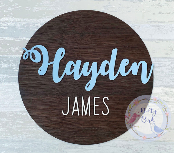 Wooden Room Name Sign, Wooden Name Plaque, Boys Bedroom Decor, Wooden Nursery Decor, Name Room Sign, Personalised Name Sign, New Baby Gift