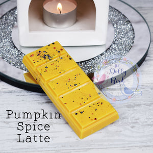 Pumpkin Spice Latte Soy Wax Melt Snap Bar, Halloween Scented Wax, Soy Wax Melt, Wax Snap Bar, Autumn Scented Wax Melt, Pumpkin Wax Melts