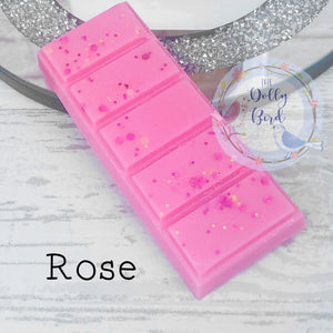 Rose Scented Wax Melt, Rose Scented Wax Melt Snap Bar, Highly Scented Wax Melts, Fresh Scent Wax Melt, Clean wax Melts, Floral Wax Melts