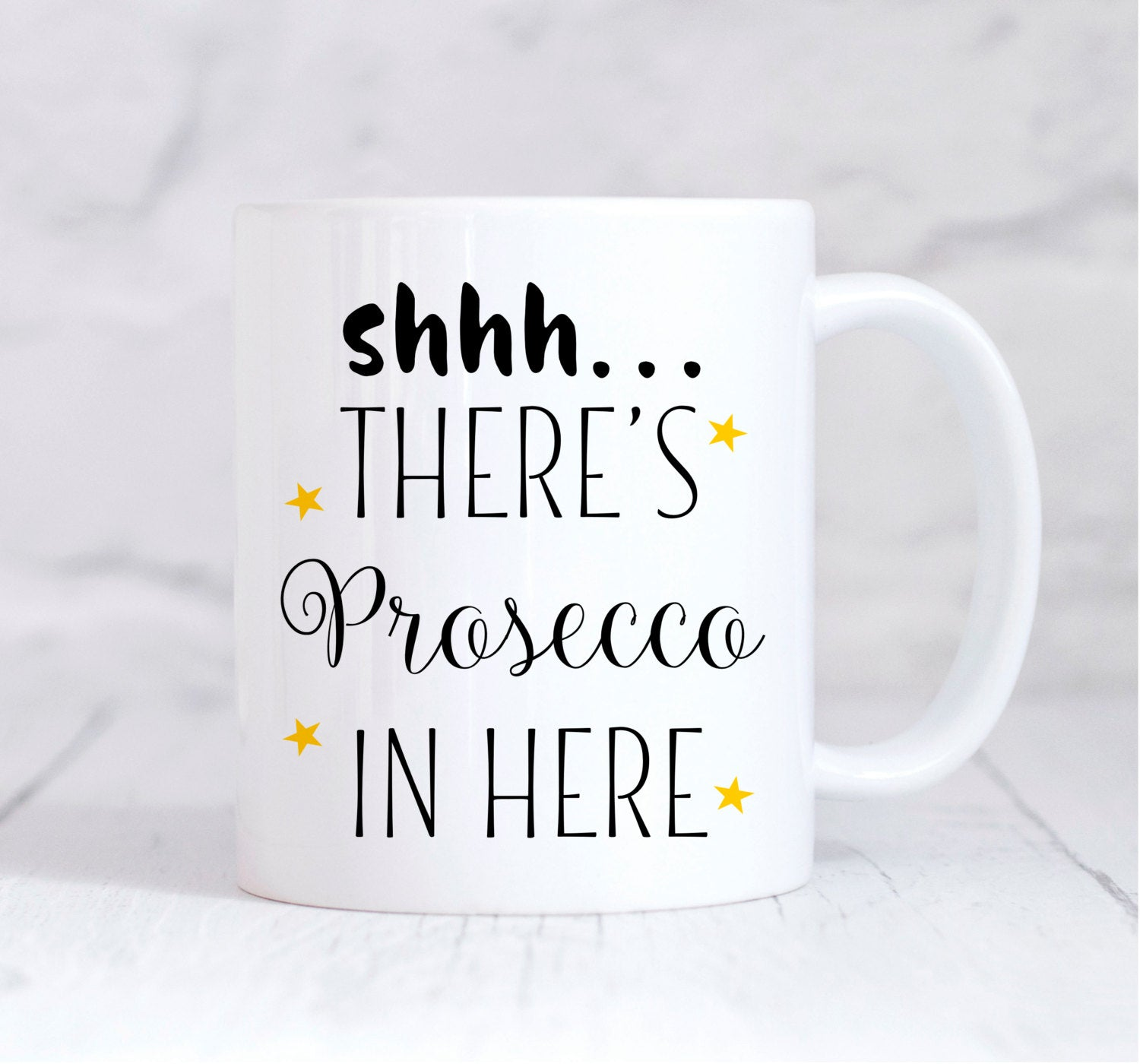 Prosecco Lover Coffee mug, Shh There's Prosecco in here, funny mug, coffee mug, Wine Lover, Funny Quote Mug, Gift For Her, Novelty Mug, UK