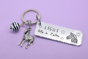 Fight Like A Zebra Keyring, My Joints Go Out More Than I Do Keyring, Zebra Strong Keyring, Zebra Strong Keychain, EDS Awareness, Ehlers Danlos Awareness, EDS Keyring, Invisible Illness, Chronic Illness, Zebra