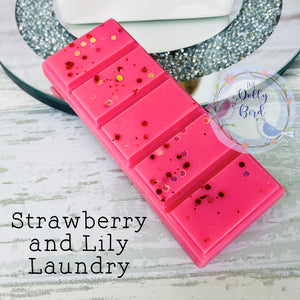 Strawberry And Lily Laundry Scented Wax Melt Snap Bar, Strawberry And Lily Laundry Scented Wax, Soy Wax Melts, Wax Snap Bar, Washing Scented Wax Melts, Fresh Scent Wax Melts