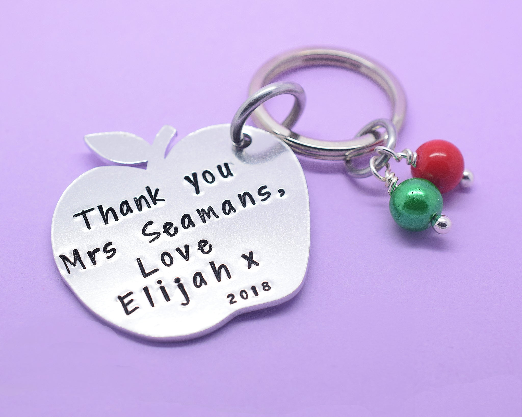 Teacher Gift, Personalised Teacher Gift, Teacher Keyring, Gift for Teachers, Thank You Gift, Teaching Assistant Keyworker, Hand Stamped, Personalised Teacher Gift, Thank You Teacher, Teacher Keyring Keychain, Hand Stamped, Teaching Assistant Key Worker Gift, End Of Term Gift