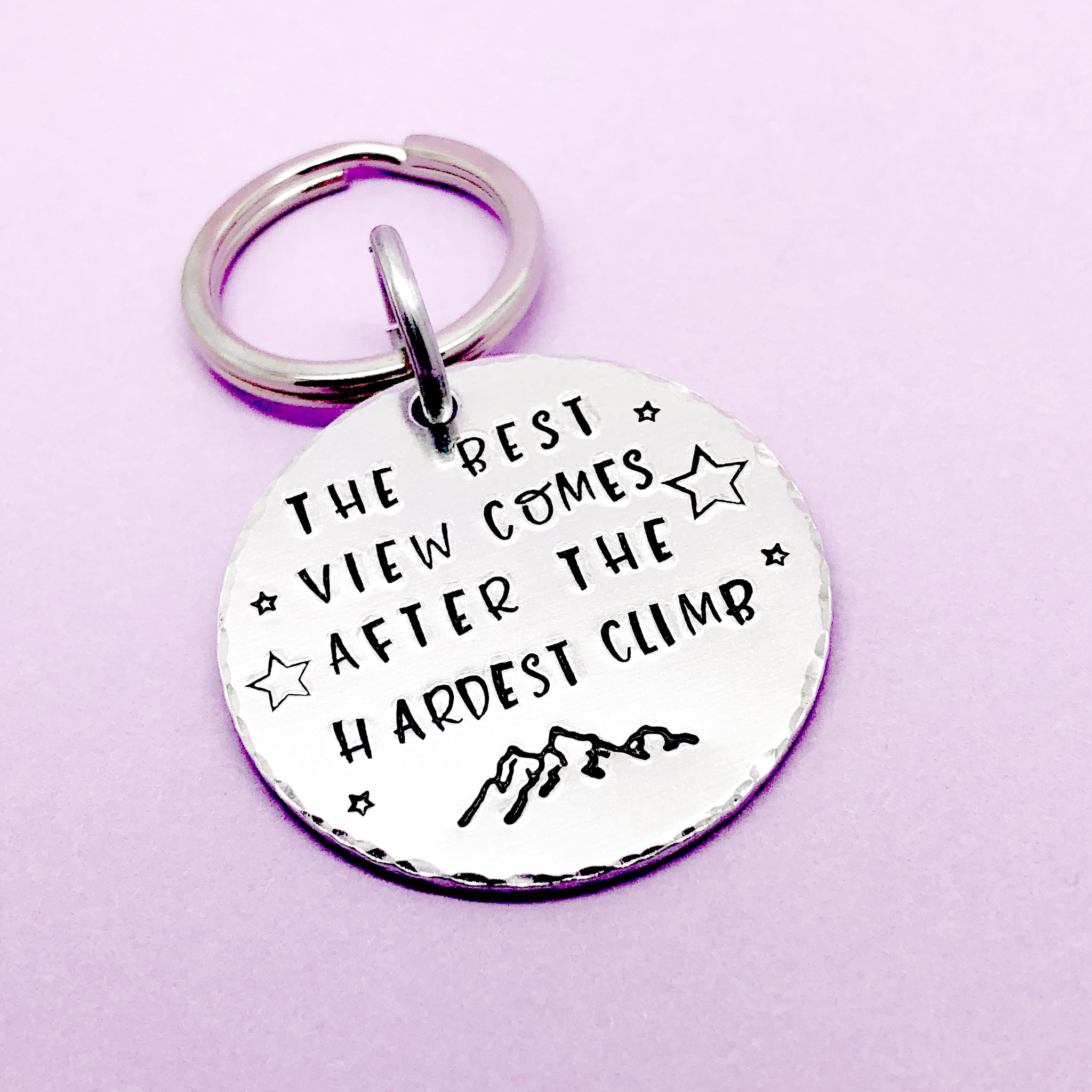 motivational Keyring, Quote keyring, Hiker Gift, Mountain Keyring, Hiking Gift, Fell Walking, Mountaineering, Mountain Climbing, Dog Walking