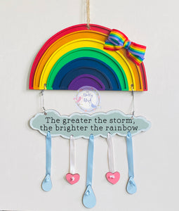 Rainbow Quote Wooden Sign, Rainbow Sign, Positive Quote Rainbow, Rainbow Gift, Thank You Rainbow, Rainbow Baby Gift, Miss You Gift