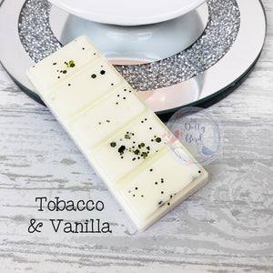Tobacco and Vanilla Wax Melt Snap Bar, Aftershave Scented Wax, Soy Wax Melt, Clean Scented Wax Melts, Fresh Scent Wax Melts, Cologne Wax