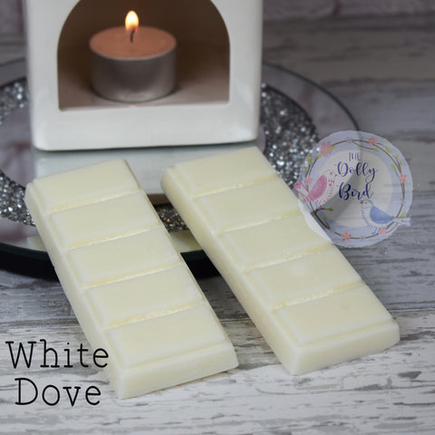 White Dove Soy Wax Melt Snap Bar, Clean Soap Scented Wax, Soy Wax Melts, Clean Scented Wax Melts, Fresh Scent Wax Melts