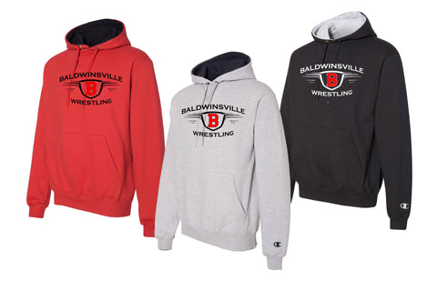 Champion Heavy Hoodie  - Red, Black, or Gray