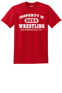 Gildan Short Sleeve T-Shirt - Property of Bees Wrestling - Red