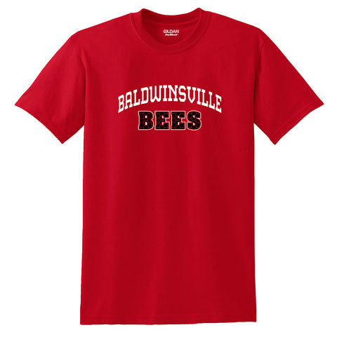 """Baldwinsville Bees"" Honeycomb Design T-shirt"