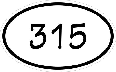 """315"" Decal"