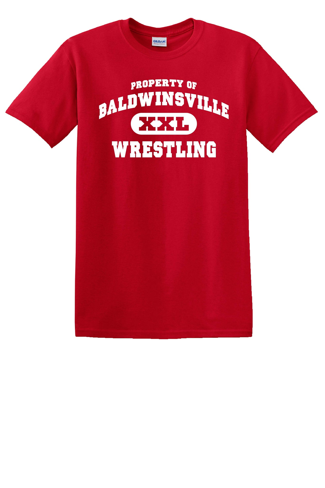 Gildan Short Sleeve T-Shirt - Property of Baldwinsville Wrestling - Red