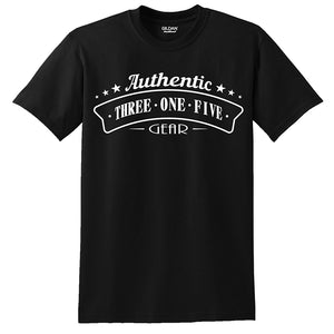 """Authentic Three One Five Gear"" T-shirts"