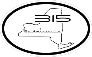 """315 Baldwinsville"" v.3 Decal"