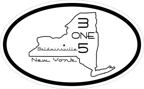 """315 Baldwinsville"" v.4 Decal"