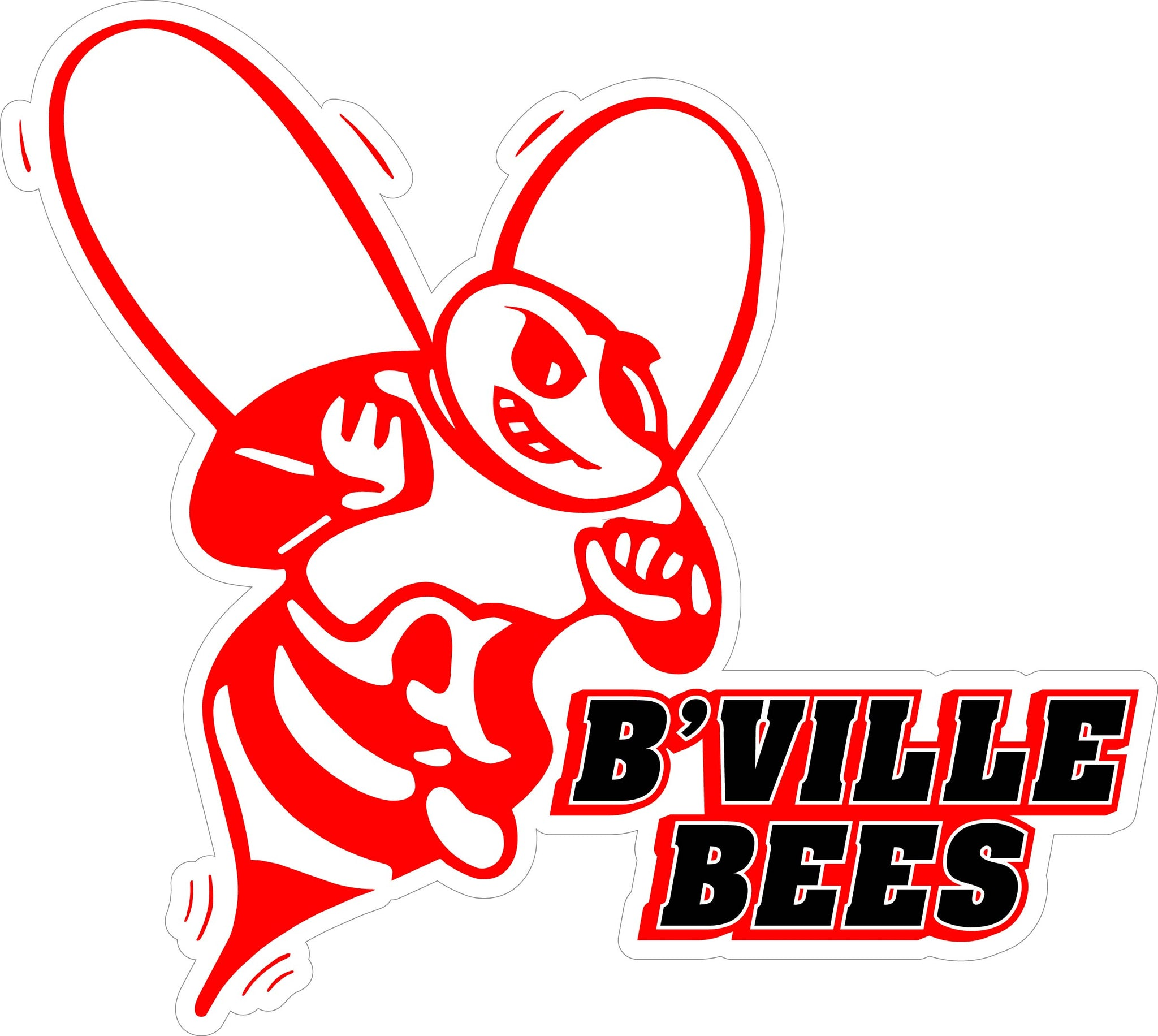 """B'VILLE BEES"" Varsity Font Decal"