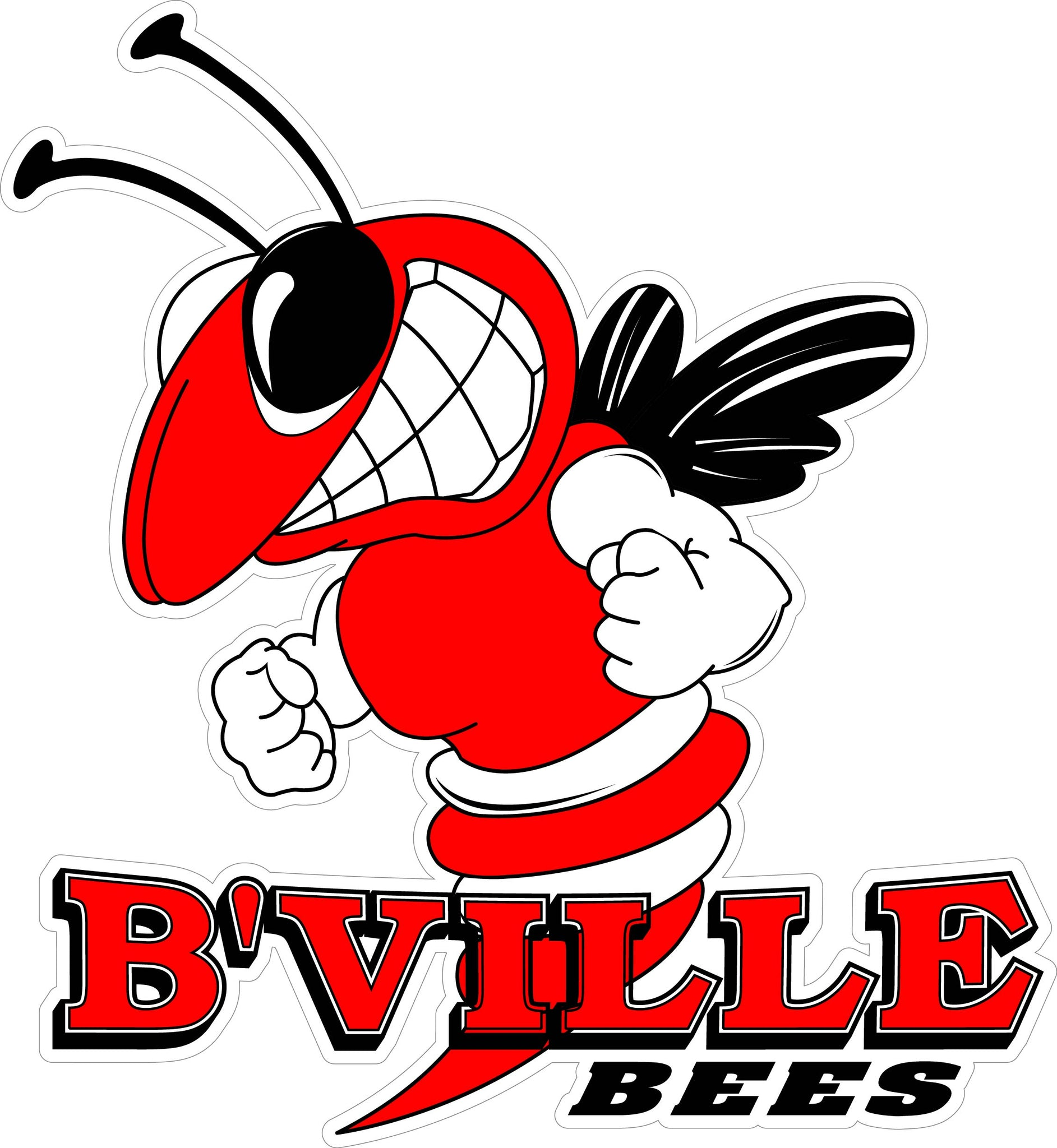 """B'VILLE BEES"" Generic Decal"