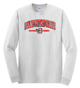 """Baldwinsville"" Distressed Logo Long-Sleeve"