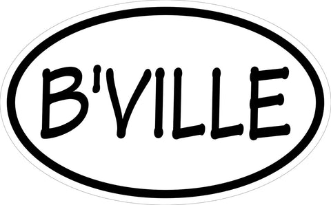 """B'VILLE"" Euro Decal"