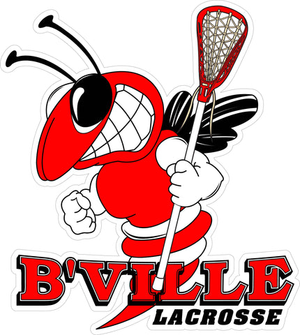 """B'VILLE Lacrosse"" Bee & Lax Stick Decal"