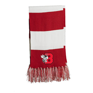 B'ville Bees Winter Scarf - Red & White