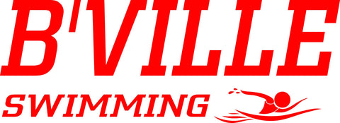 """B'VILLE SWIMMING"" Red Decal"