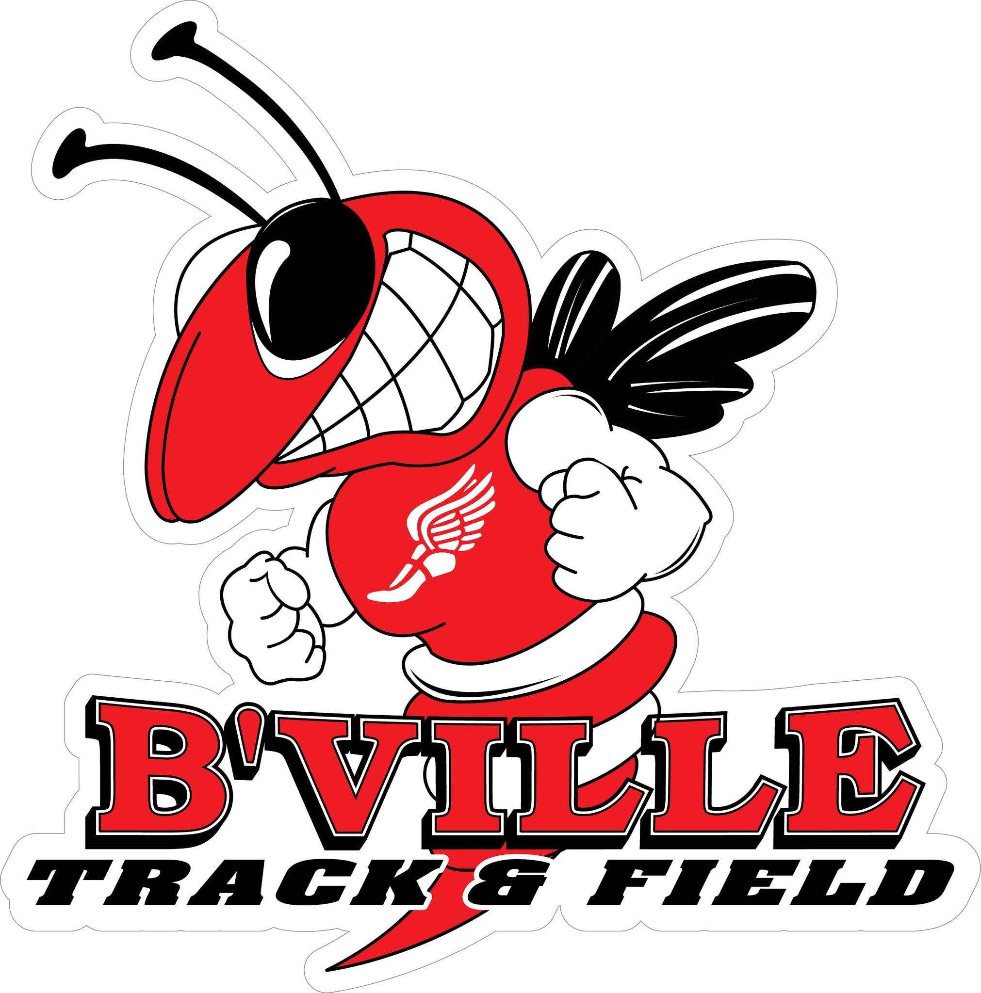 """B'VILLE Track & Field"" Decal"