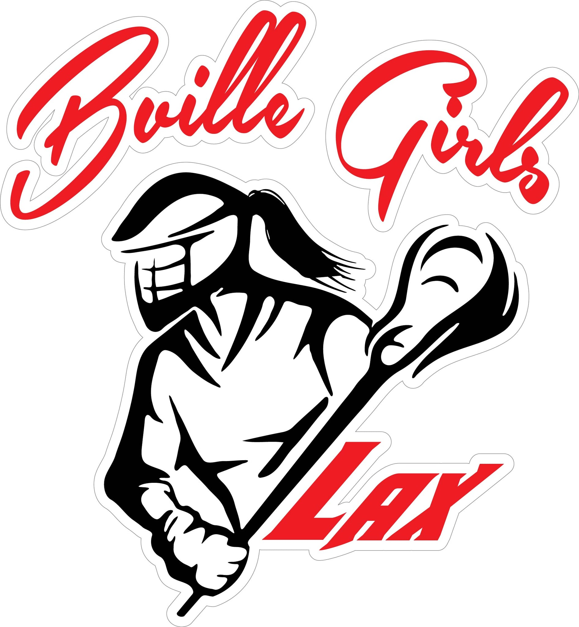 """Bville Girls LAX"" 2 Decal"
