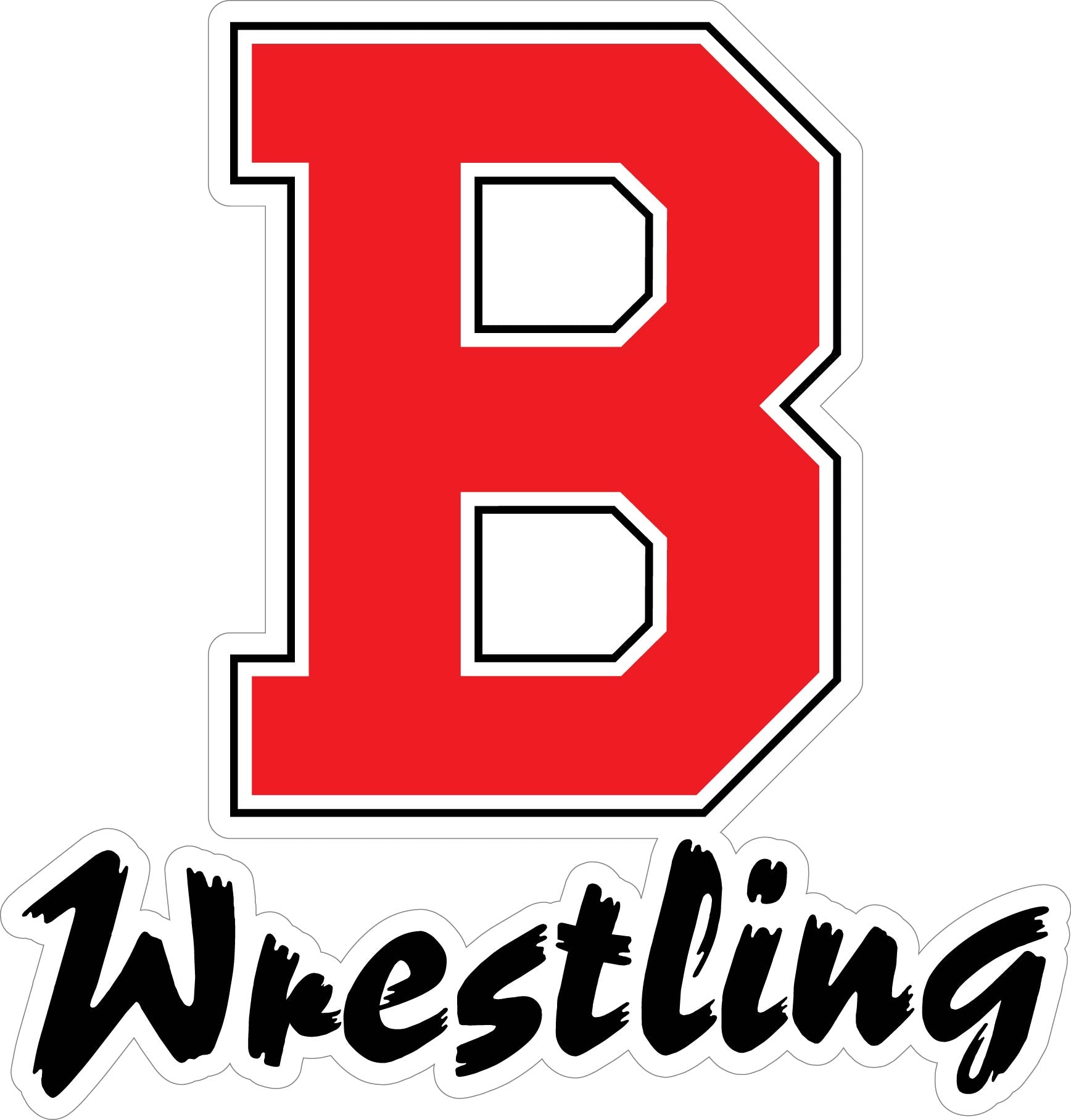 "BVILLE Wrestling ""B"" Decal"