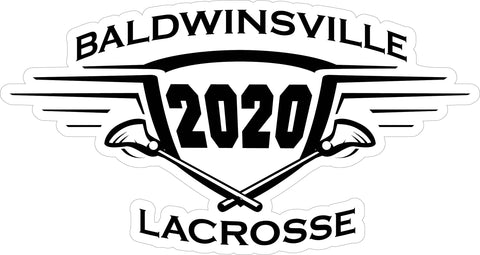"""Baldwinsville 2020 Lacrosse"" Decal"