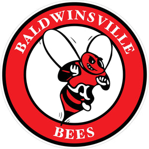 """Baldwinsville Bees"" Circle Decal"