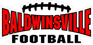 """Baldwinsville Football"" Decal (Cropped)"