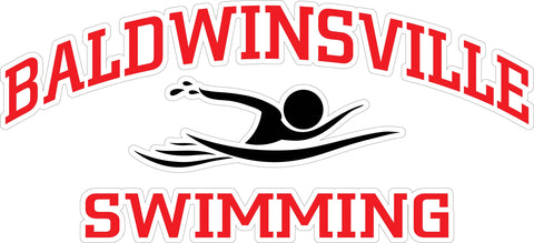 """Baldwinsville Swimming"" Swimmer Decal"